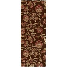 Fashion Shag Brown Floral Rug