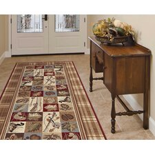 Nature Hunting Motif Novelty Rug