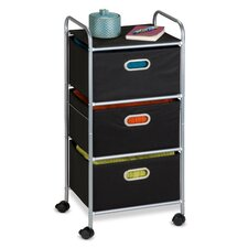 "35"" 3 Drawer Fabric Storage Cart"