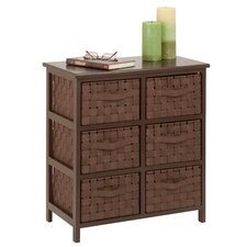 6 Drawer Woven Strap Chest