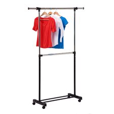 Dual Rod Expandable Garment Rack