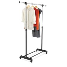 <strong>Honey Can Do</strong> Expandable Garment Rack in Black and Chrome