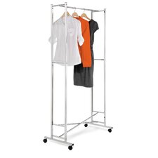 Square Tube Garment Rack in Chrome