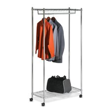 <strong>Honey Can Do</strong> Urban Deluxe Garment Rack in Chrome
