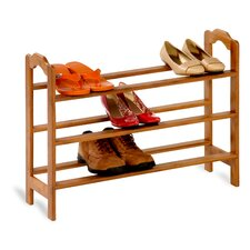 <strong>Honey Can Do</strong> 3 Tier Bamboo Shoe Rack