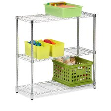 <strong>Honey Can Do</strong> Three Tier Storage Shelves in Chrome