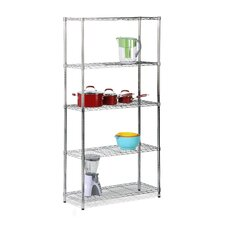 Five Tier Urban Storage Shelves in Chrome