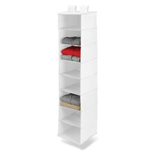 Eight Shelf Hanging Organizer in White
