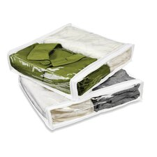 Two Pack of Storage Bag in White