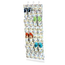 24 Pocket Over the Door Shoe Organizer