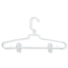 72 Pack Hotel Style Hanger with Clips in White