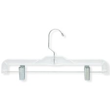 Crystal Clear Skirt and Pant Hangers in Clear (12 Pack)