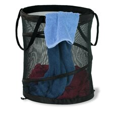 "14"" x 19"" Black Medium Mesh Pop Open Hamper"