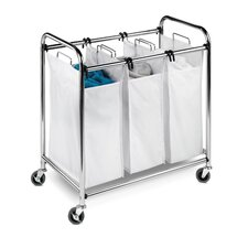 3 Section Chrome Plated Heavey Duty Laundry Sorter
