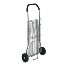 Two Tier All Purpose Two Wheel Cart in Silver