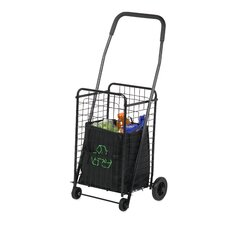 Four Wheel Rolling Utility Cart in Black