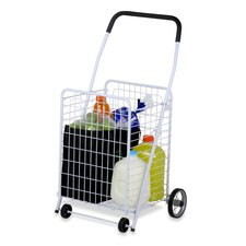 <strong>Honey Can Do</strong> Four Wheel Rolling Utility Cart in White