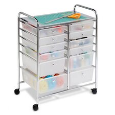 <strong>Honey Can Do</strong> Twelve Drawer Rolling Cart in Chrome