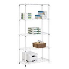Five Tier Storage Shelves in White