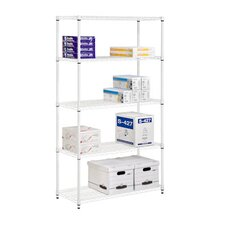 <strong>Honey Can Do</strong> Five Tier Adjustable Storage Shelves in White
