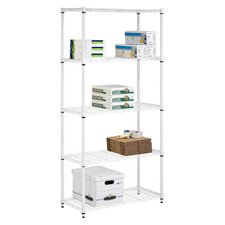 <strong>Honey Can Do</strong> Five Tier Urban Storage Shelves in White