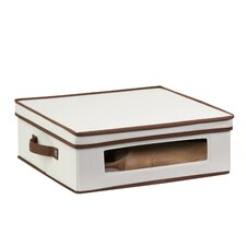 Natural Canvas Large Window Storage Box