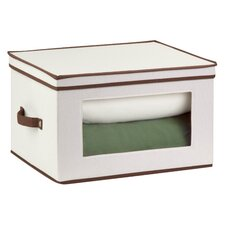 <strong>Honey Can Do</strong> Natural Canvas Tall Window Storage Chest