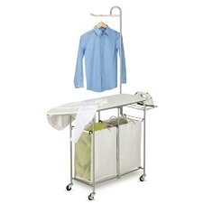 <strong>Honey Can Do</strong> Foldable Ironing Laundry Center and Valet