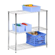 Three Tier Shelving Unit in Chrome