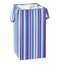 Collapsible Hamper with Handles in Blue & Purple