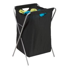 Fold Up Nylon Hamper in Black