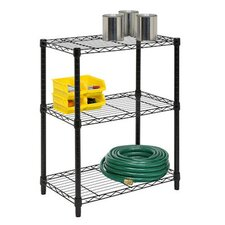 Three Tier Shelving Unit in Black