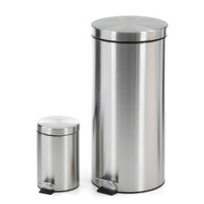 7.92-Gal. Stainless Steel Step Trash Can
