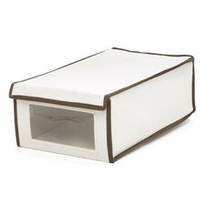 Medium Natural Canvas Window Shoe Box