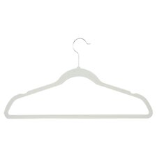 Velvet Touch Suit Hanger in Ivory (Set of 50)