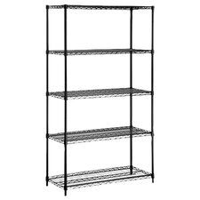 <strong>Honey Can Do</strong> Five Tier Storage Shelves in Black