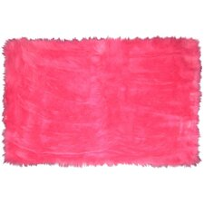 Flokati Hot Pink Area Rug