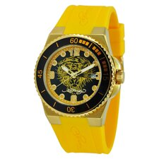 Women's Immersion Tiger Watch in Yellow