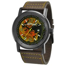 Men's Kombat Dragon Watch in Brown