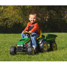 John Deere Farm Tractor and Trailer Ride-On Toy