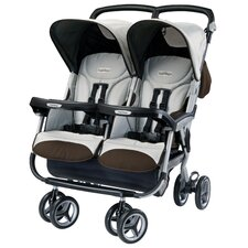 <strong>Peg Perego</strong> Aria Twin 60 / 40 Double Stroller in Java