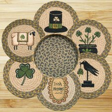 7 Piece Irish Trivets in a Basket Set