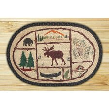 Moose/Canoe Rug