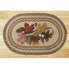 <strong>Earth Rugs</strong> Autumn Leaves Patch Rug