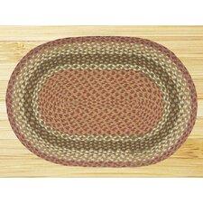 Olive/Burgundy Rug