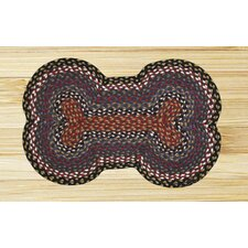 Burgundy/Blue Dogbone Novelty Rug