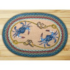 <strong>Earth Rugs</strong> Crab Novelty Rug