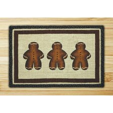 Gingerbread Men Novelty Rug