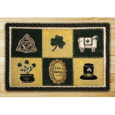 <strong>Earth Rugs</strong> Irish Patch Novelty Rug