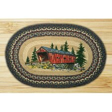 Covered Bridge Novelty Rug